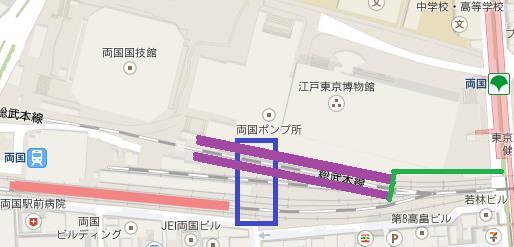 両国駅地図
