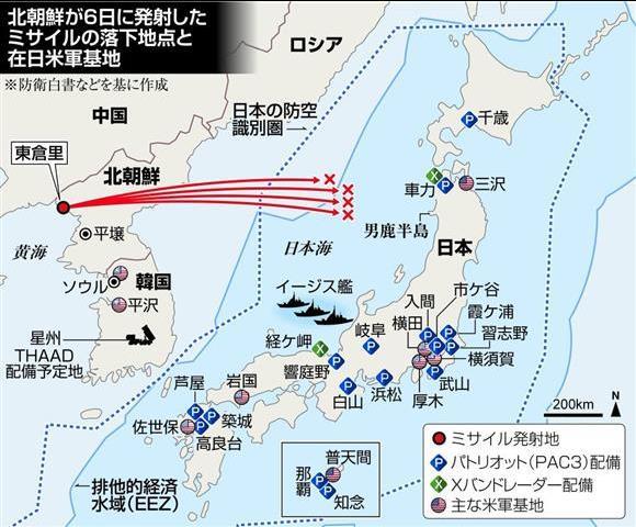 「北朝鮮 ミサイル 日本 標的」の画像検索結果